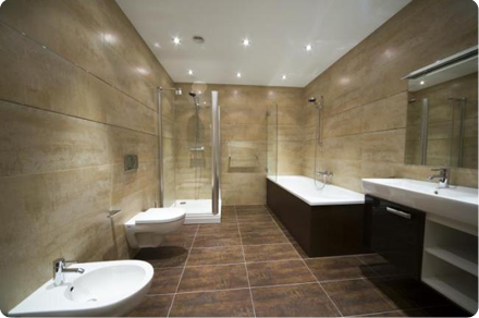 Image of a bathroom completedby Paul Hallet Plumbing Services